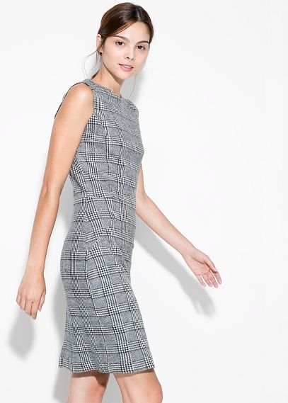 Prince of Wales wool-blend dress