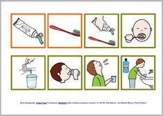 Rutinas diarias cepillado de dientes con pictogramas de ARASAAC - Masculino