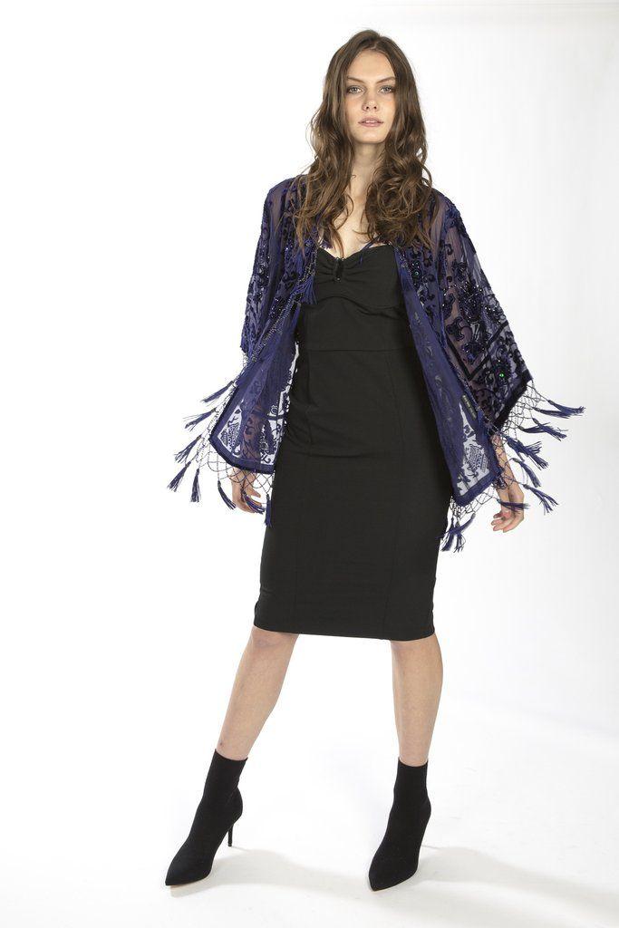 Silk Devore Jacket - Jayley Collection