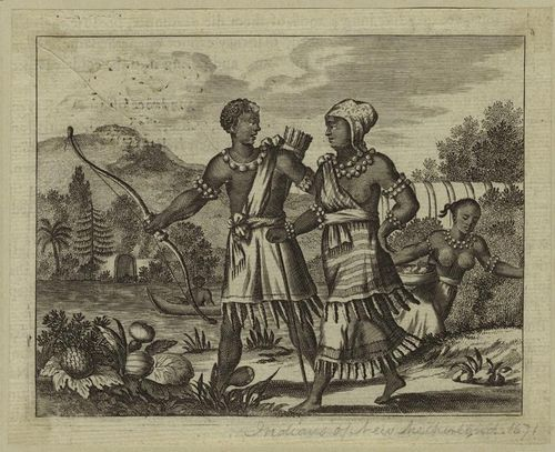 The Black Natives of New Netherland, look at the fringes on their clothing! http://www.newnetherlandinstitute.org/history-and-heritage/more-historical-fun/dutch-treats/early-impressions-of-new-netherland/ Early Descriptions of New Netherland | Dutch Treat