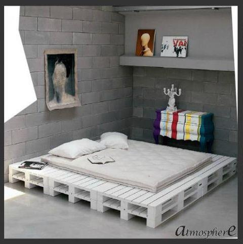 Pallet Bed Pallets Pinterest