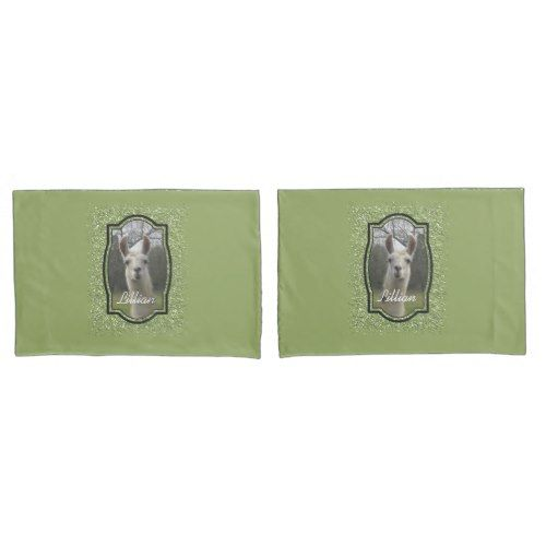 Bright N Sparkling Llama in Green Pillow Case