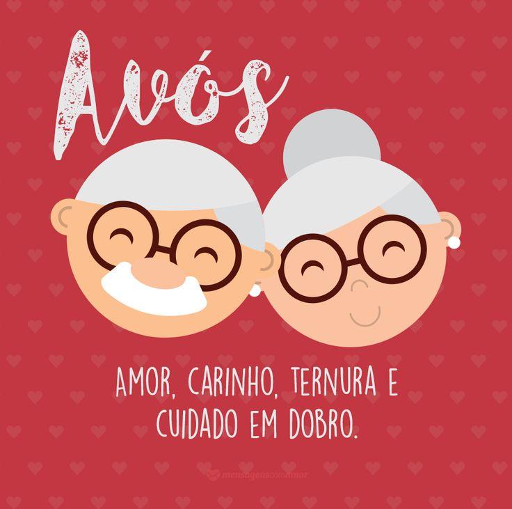 Avós, amor, carinho, ternura e cuidado em dobro. #mensagenscomamor #frases #pensamentos #sentimentos #vida #reflexões #avós #diadosavós #declarações #homenagens #amor