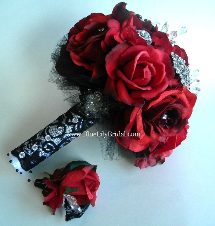 red rose bouquet w/ bling - Google Search