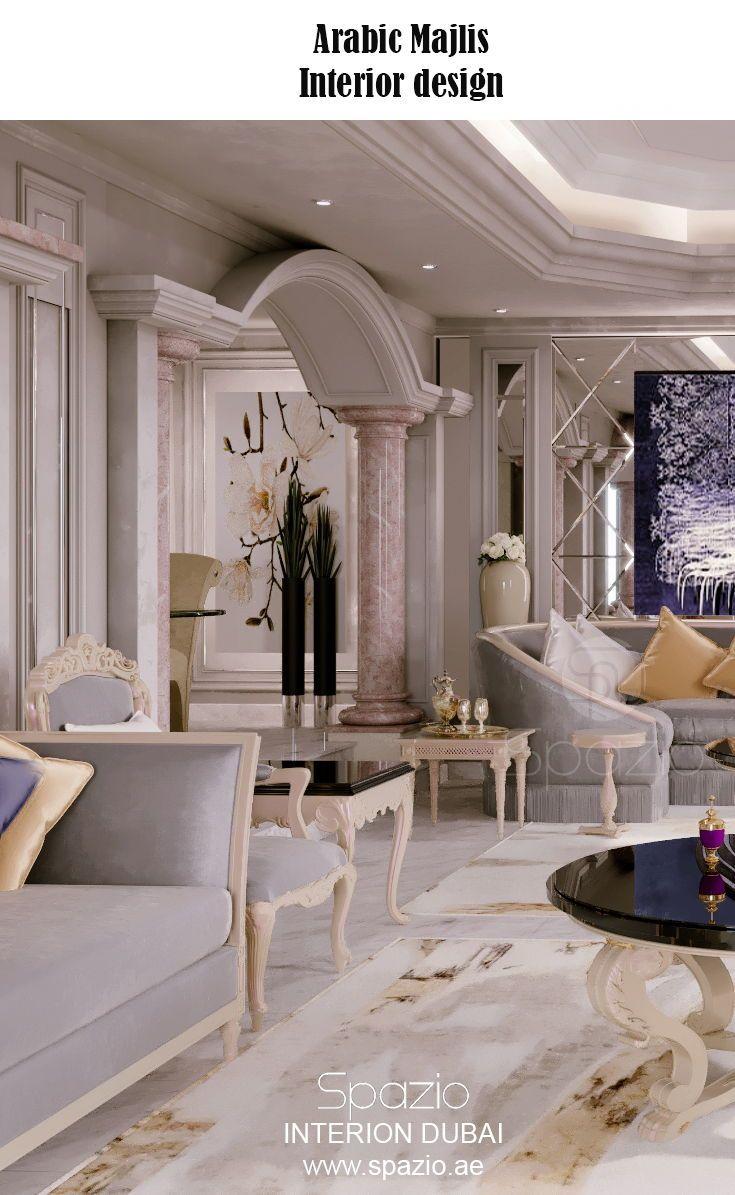 Majlis Interior Design In Dubai Interior Design Interior Design Dubai Luxury Home Decor