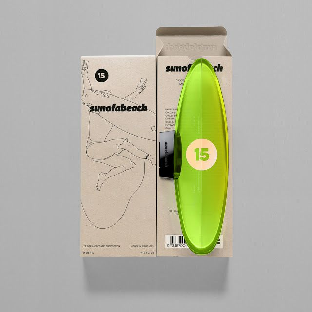 SUNOFABEACH - Men Sun Care (Concept) on Packaging of the World - Creative Package Design Gallery