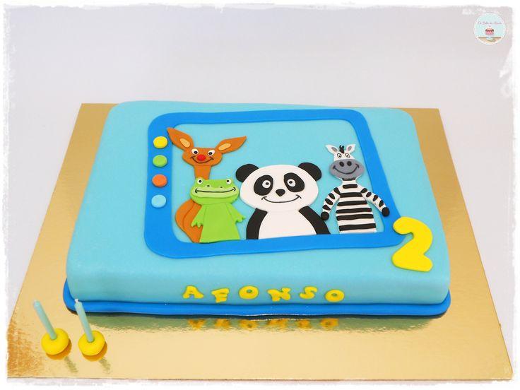 Panda Tv Cake