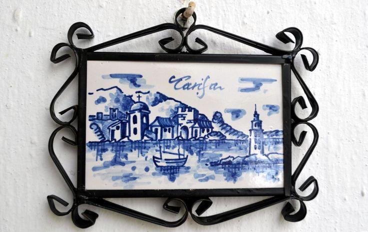 Azulejo de 10x15cm pintado sobre cubierta por nuestro colega Antonio Medina.