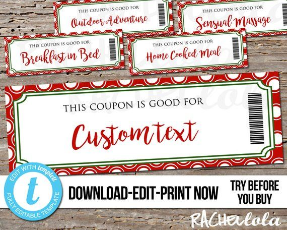 Pin By Angela D Amico On Love Stuff Coupon Template Christmas Coupons Love Coupons