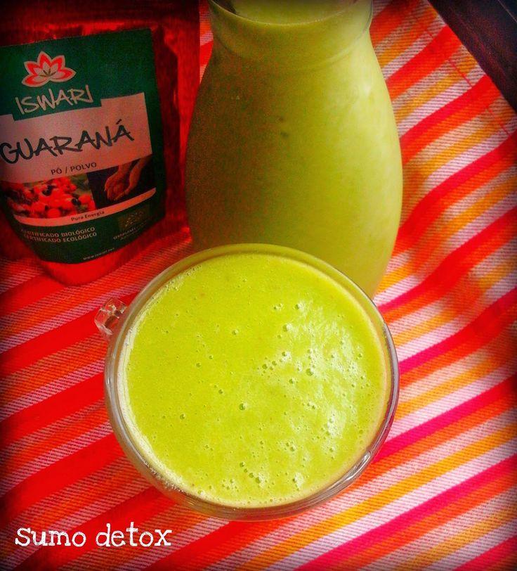 donabimby: Sumo Detox - Ananás, Banana, Maçã, Laranja, Espinafres, Guaraná em pó