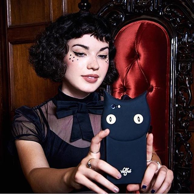 Bebe @madewin wearing the Matilda Dress + Bruno 👀 Phone Case for @ipsy 🌹  #valfre #ipsy #ipsyblackmagic