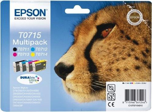 #Bürobedarf: Epson T0715 Tintenpatronen Multipack (cyan, magenta, gelb, schwarz): Kaufen Neu: EUR 33,99 [Germany]