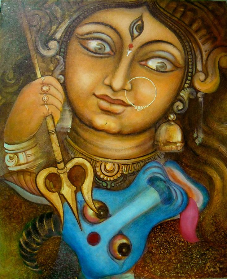 durga painting - Google Search
