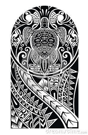 Tatuagem tribal com tartaruga                                                                                                                                                                                 Mais