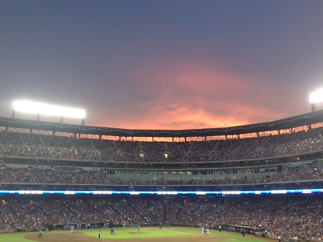 Texas Rangers - Dallas-Fort WorthSaturday Night Thy, Greeting Rangers, Sunsets, Happy Places, Gorgeous Texas, Fields Advantage, Dallas Forts Worth, Friday Night, Rangers Fans