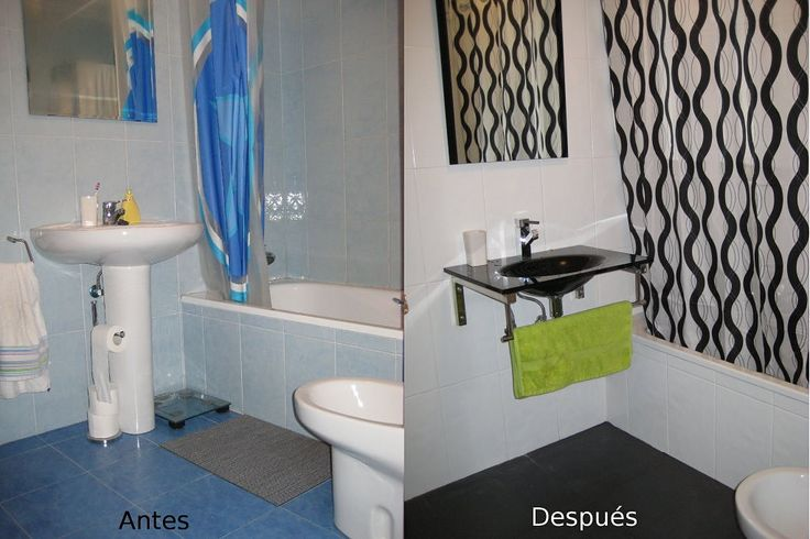 Baño Blanco De Limon:Tu baño puede ser hermoso! Mira estas transformaciones y