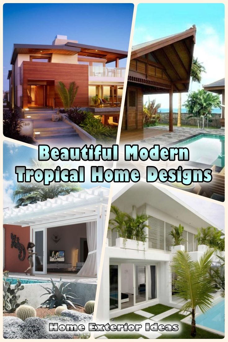 17 Beautiful Modern Tropical Home Designs That Will Amaze You Modern Tropical House Design Tropical Houses