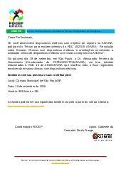 CONVITE FOCEP _ Forum para esclarecimentos da RDC 10_2015 ANVISA 19.09.2016