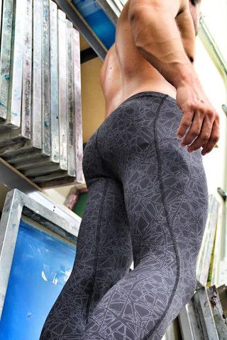 Men's WEB Design Full Length Compression Pant - WOD Gear Clothing Company - 4