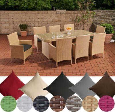 Polyrattan Essgruppe AVIGNON BIG (Tisch 200 x 90 cm + 8 x Polyrattan Stuhl Julia + Sitzauflagen), bis zu 7 Rattan-Farben und 5 Bezugsfarben wählbar Jetzt bestellen unter: https://moebel.ladendirekt.de/garten/gartenmoebel/gartenmoebel-set/?uid=0a31644e-991d-5ed6-913e-8dc7561b23a1&utm_source=pinterest&utm_medium=pin&utm_campaign=boards #garten #gartenmoebel #gartenmoebelset