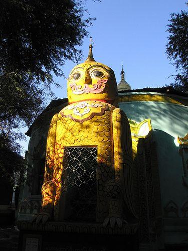 Owl - Kyaw Aung San Buddhist Temple - Amarapura, Mandalay, Myanmar (Burma)
