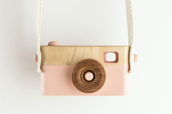 Wooden Toy Camera, Wooden Toys, Baby Birthday Gift, Toddler Birthday Gift, Pink