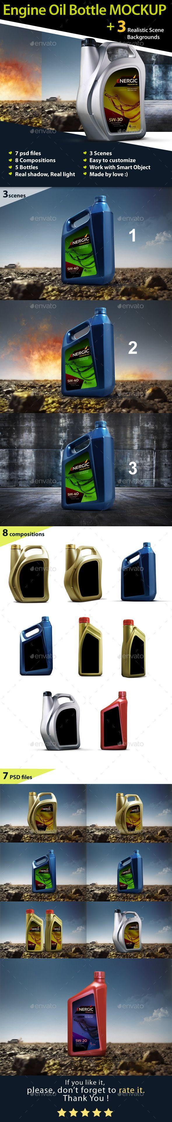 Engine Oil Bottle Mockup #design Download: http://graphicriver.net/item/engine-oil-bottle-mockup/12924533?ref=ksioks