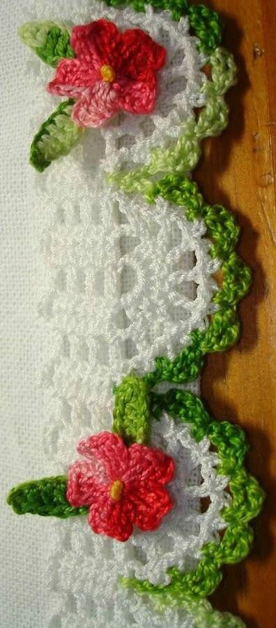 CROCHE E TRICO - edging idea , no pattern
