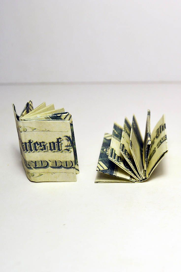 58 best money dollar origami images on pinterest easy money mini book origami dollar tutorial diy have you ever seen a mini book from dollar bills i will show you how to make an origami book easy and jeuxipadfo Image collections