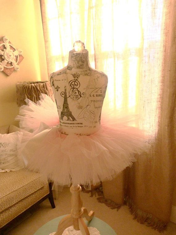 Vintage Inspired Dress Form Mannequin Girl's Princess Ballerina Tutu Pink and Grey Paris  Room Decor Princess Eiffel Towr on Etsy, $259.00