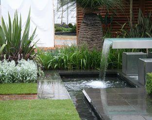 water feature in the garden - Fleming's nurseries australian garden