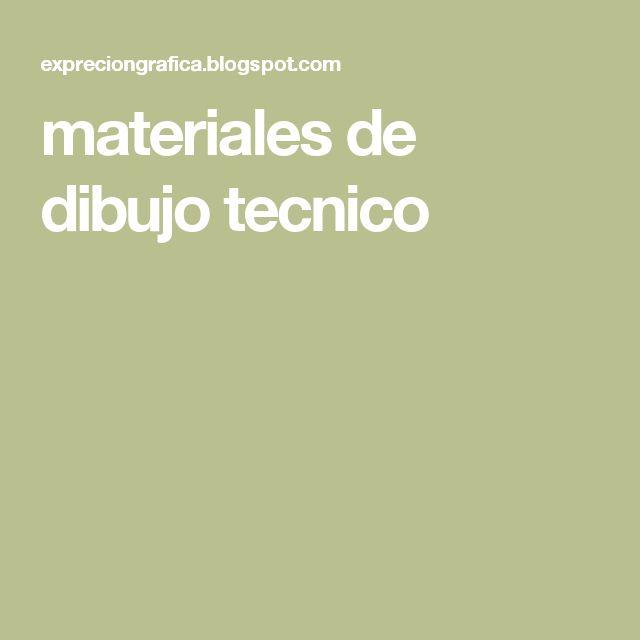 materiales de dibujo tecnico