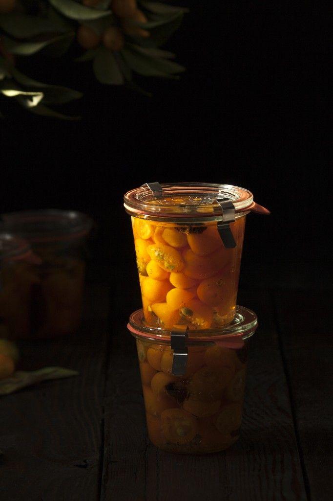 Kumquats confitadas