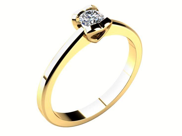 Vyznejte svou lásku beze slov. Tento zásnubní prstýnek s korunkou ve tvaru srdce je ideální variantou pro každou romanticky založenou ženu.