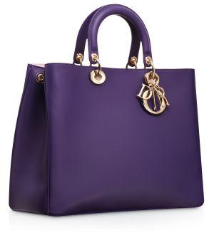 1e1999e4463 Dior Violet Diorissimo Large Bag   Wish list ,   Pinterest   Bags, Purses  and Fashion bags