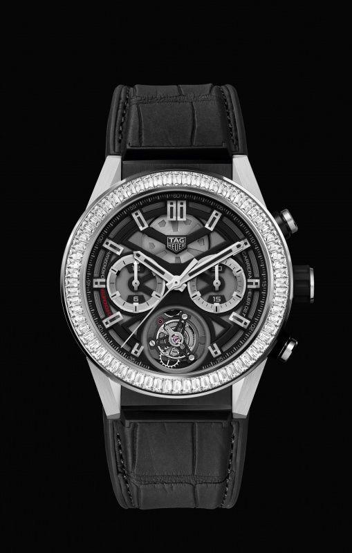 TAG Heuer CARRERA Heuer-02T Lunette Diamants Baguette