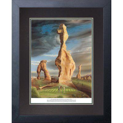 Red Barrel Studio 'No.7 Desert Winds Municipal Golf Course' Framed Graphic Art Print