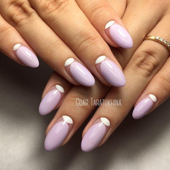 nail art, nails, manicure, fashion 2017, лиловый маникюр с негативным пространством