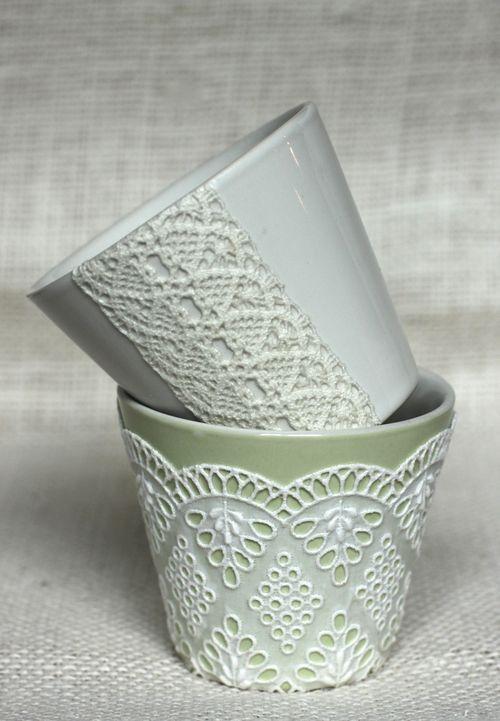 40 Ideas to Dress Up Terra Cotta Flower Pots - DIY Planter Crafts {Saturday Inspiration & Ideas} - bystephanielynn: