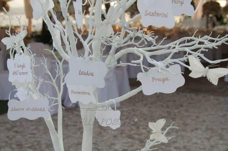 Tableau de mariage personalizzato per un matrimonio da sogno a Villa Posillipo