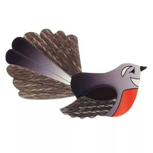 Fabiola Fantail brooch by Erstwilder