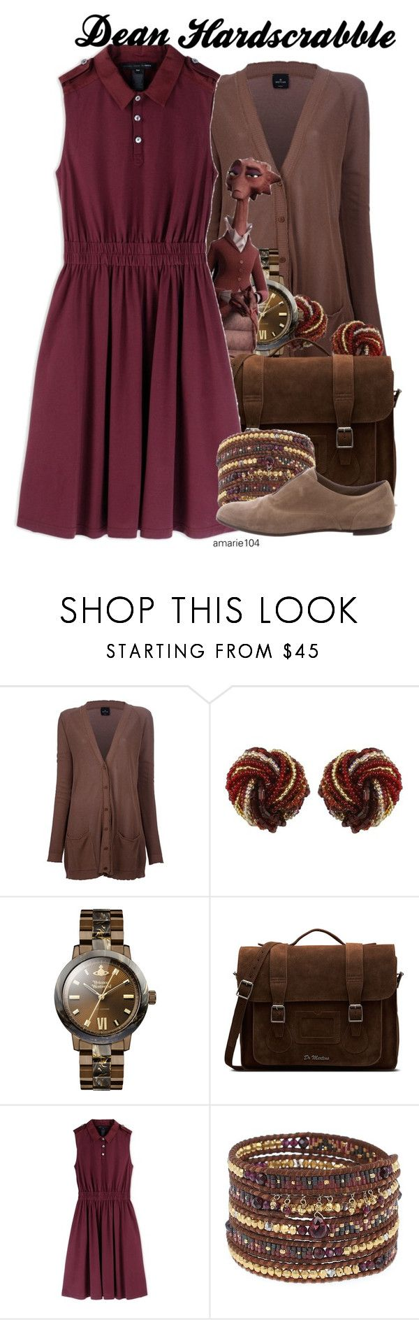 """Dean Hardscrabble"" by amarie104 ❤ liked on Polyvore featuring Gotha, Vivienne Westwood, Dr. Martens, Marc by Marc Jacobs, Chan Luu and Gianvito Rossi"