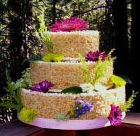 rice crispy treat wedding cakeTreats Cake, Yummy Food, Rice Krispies, Cake Ideas, Wedding Cakes, Parties Ideas, Krispie Cake, Rice Crispy Treats, Rice Krispie Treats