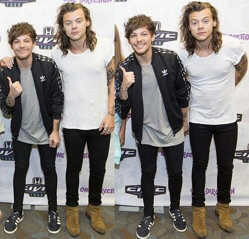 One Direction's meet & greet: Louis & Harry (Larry)