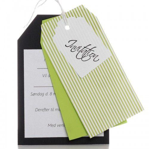 Konfirmations invitation DIY Elliot lime