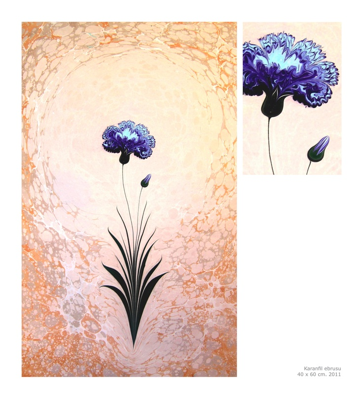The Art of Ebru - Amazing details made in water :)