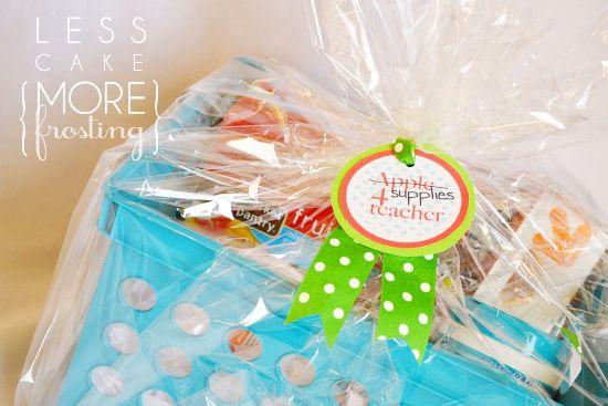 box of goodies for teacher