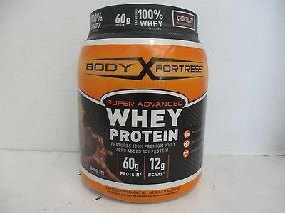BODY FORTRESS SUPER ADVANCED WHEY PROTEIN CHOCOLATE 2 lbs EXP 4|18 DE 23717  UPC - 074312553660