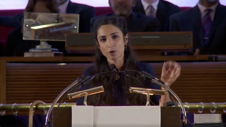 Valerie Kaur speaking @ the National Moral Revival Watch Night Service. So beautiful and brilliant. let's breathe and push....
