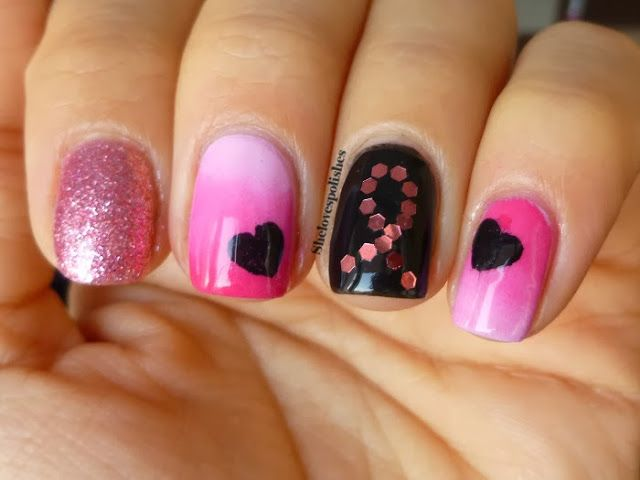 Pink Mix&Match Mani for Breast Cancer Awareness
